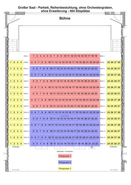 Bestuhlungsplan Vogtlandhalle Greiz