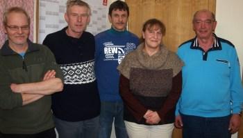 Der alten und neue Vorstand des Gommlaer Feuerwehrvereins