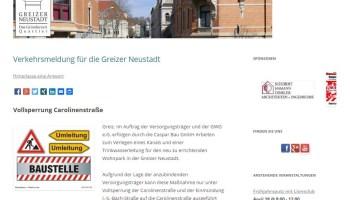 Neue Homepage des Greizer Neustadtvereins am Start