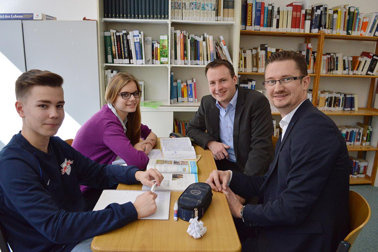 MdL Christian Tischner (CDU) besuchte Freie Schule Elstertal