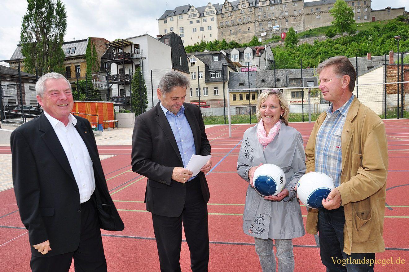 Spiel-und Sportfreifläche in der Greizer Marienstraße