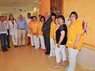 Nahmmacher-Relief wieder in Greizer Kinderklinik