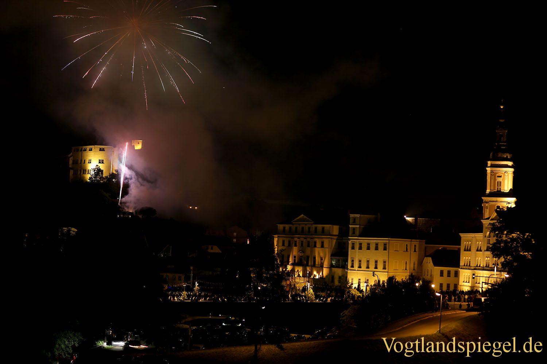 Abschluss Feuerwerk zum Greizer Park-und Schlossfest