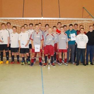 Bei den B-Junioren siegten die Kicker des Ulf-Merbold-Gymnasiums