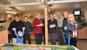 SPD-Ortsverein Greiz: Weihnachtsfeier bei Modelleisenbahnern