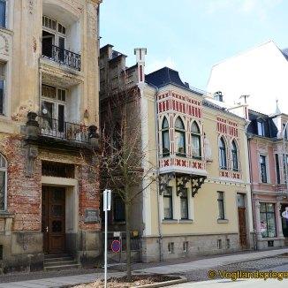Thälmannhaus in der Greizer Carolinenstraße: Aufhebung der Absperrung