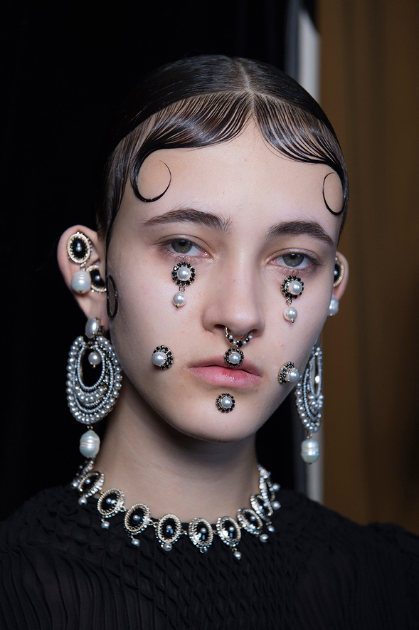 Givenchy Fall 2015 Face Jewelry Pat McGrath Vogue