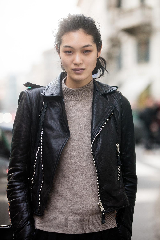 Japanese Fashion Model Chiharu Okunugi on Tokyo Fashion