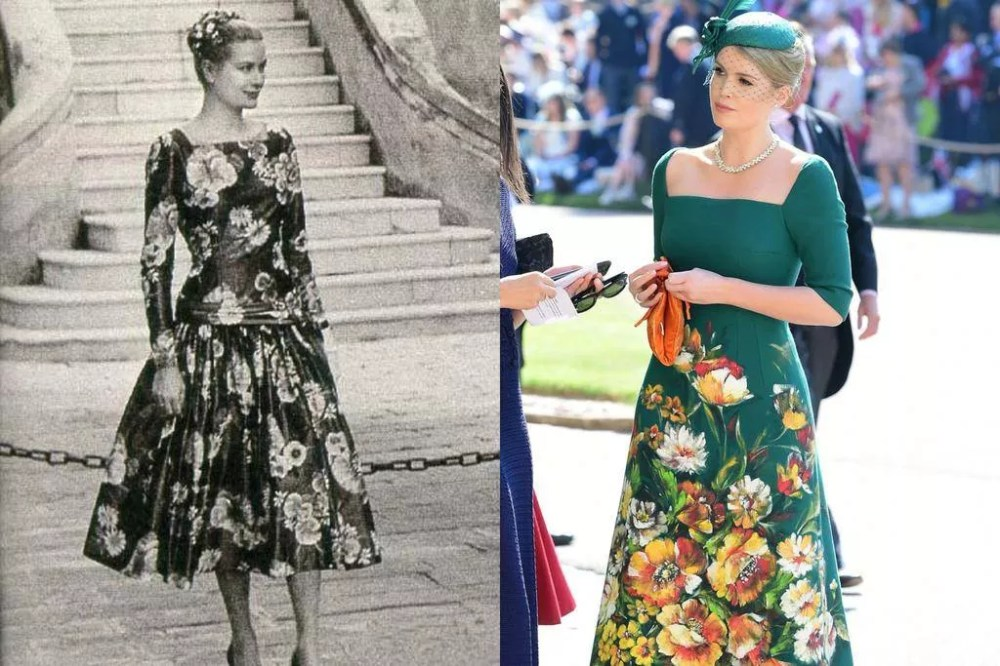 Grace Kelly (1955) and Lady Kitty Spencer (2018)
