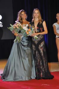 Carolina Kostener testimonial per lo stilista Sapone e la presentatrice e madrina dell 'evento Eleonora Pedron - Ph. Piero Daffonchio