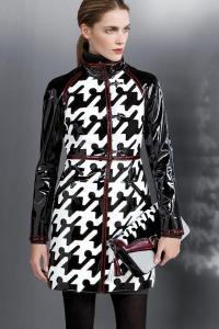 #cappotto in vernice pied-de-coq #Fay