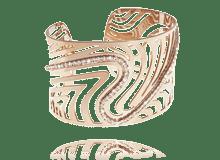 Stroili, bracciale schiava in metallo rosato e zirconi - nuova collezione primavera 14.