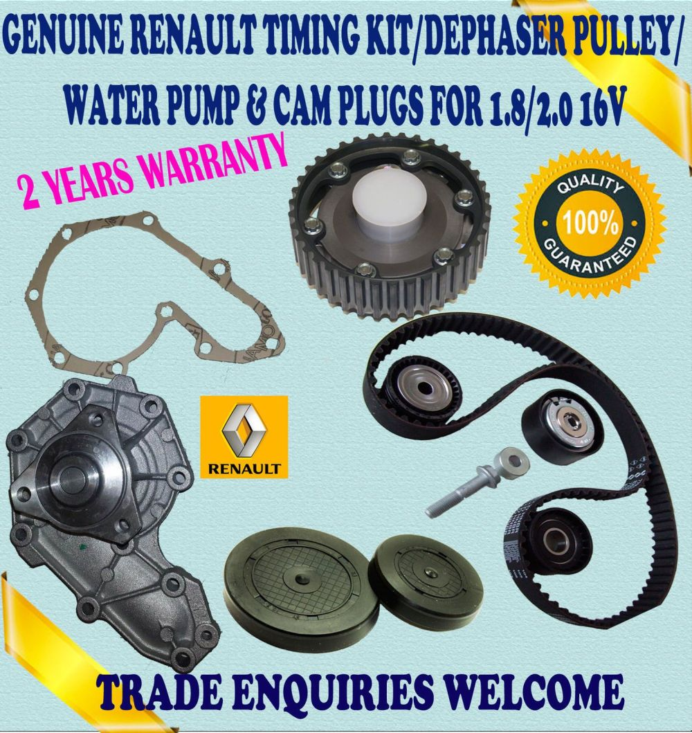 medium resolution of for renault laguna i espace iii 1 8 2 0 timing belt kit dephaser pulley water pump