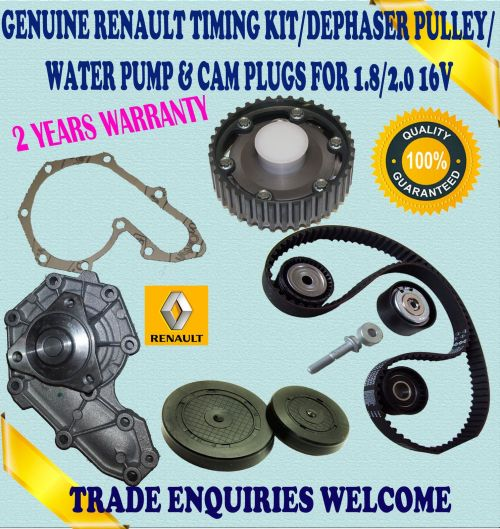 small resolution of for renault laguna i espace iii 1 8 2 0 timing belt kit dephaser pulley water pump