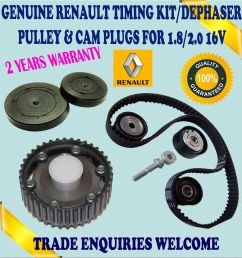 for renault laguna i espace iii 1 8 2 0 timing belt tensioner kit dephaser pulley [ 1510 x 1600 Pixel ]