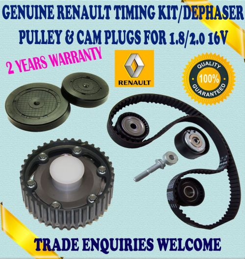 small resolution of for renault laguna i espace iii 1 8 2 0 timing belt tensioner kit dephaser pulley