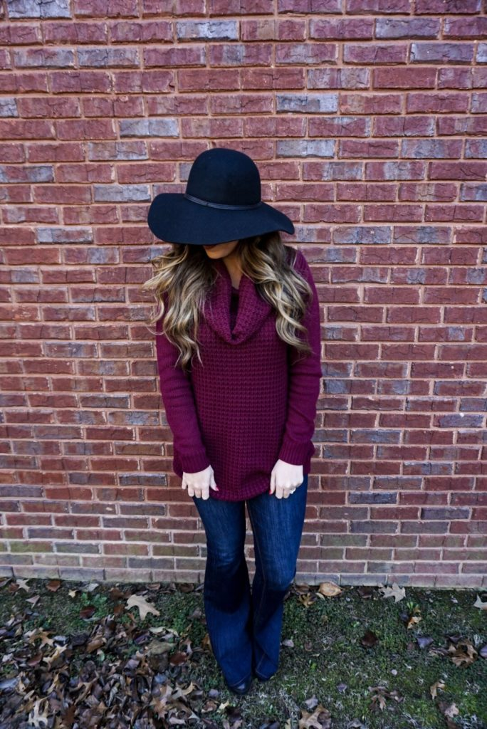 burgundy-cowl-neck