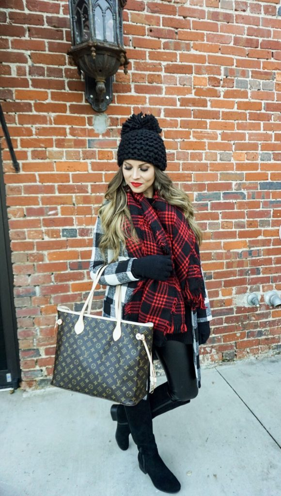 checkered coat
