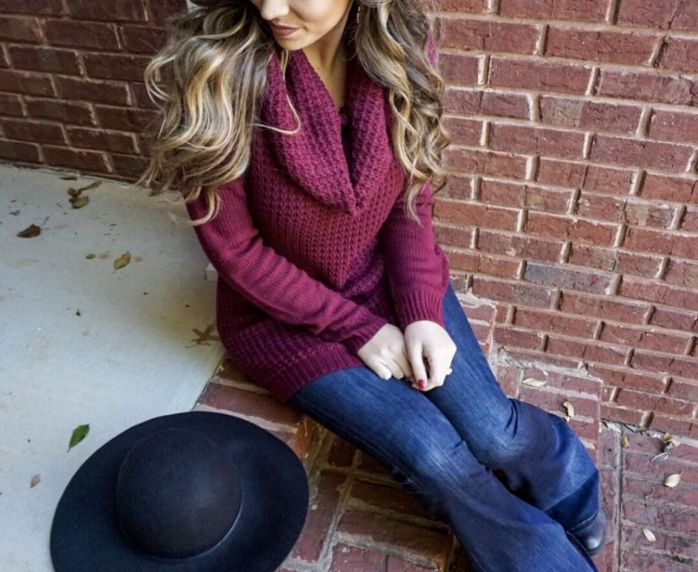 wine-cowl-neck-sweater