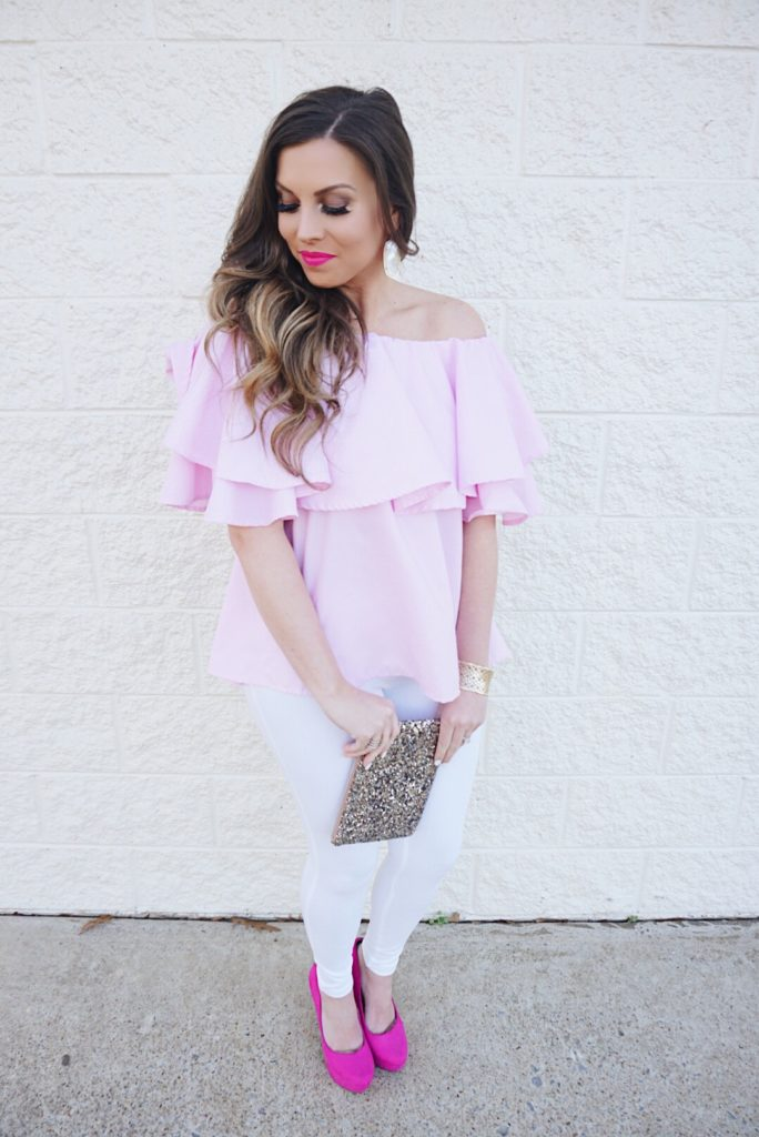 pink-off-the-shoulder-blouse