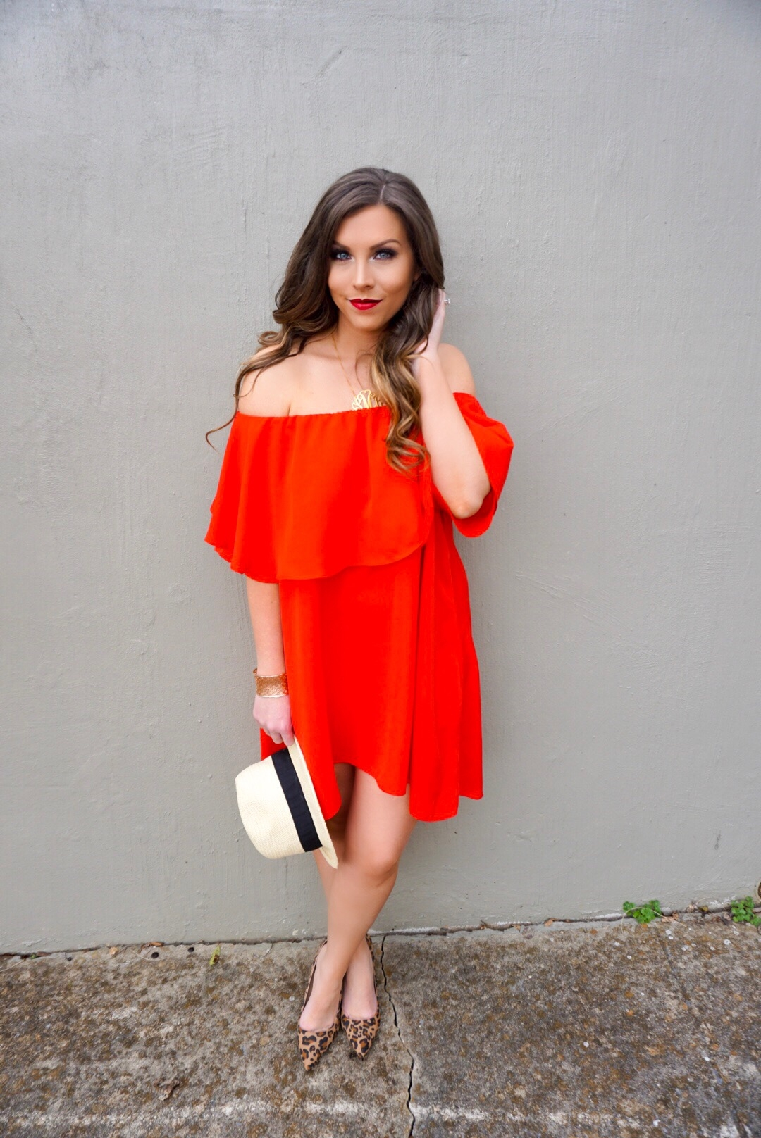 6ad3272342 SheIn + Red Off The Shoulder Dress - Vogue for Breakfast
