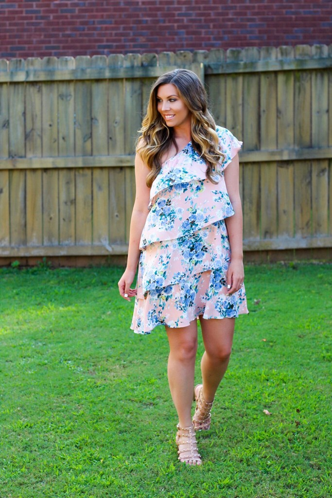 one-shoulder-ruffle-dress