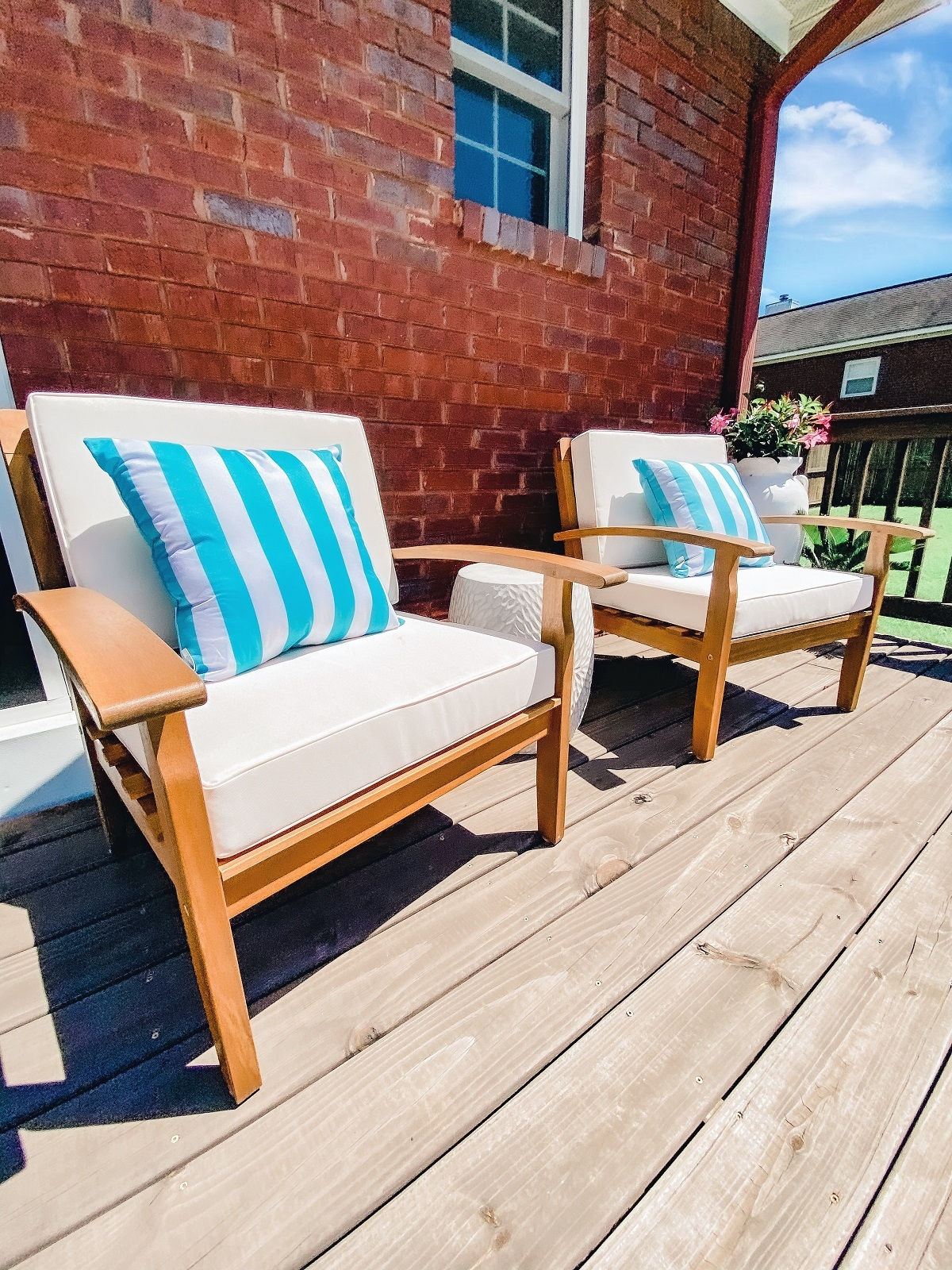 patio cushions, outdoor living