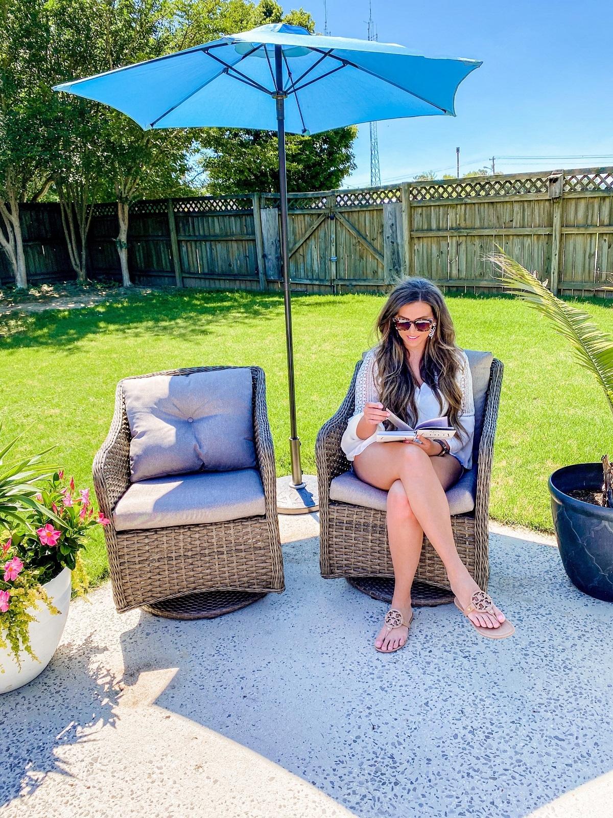patio refresh, furniture, planters
