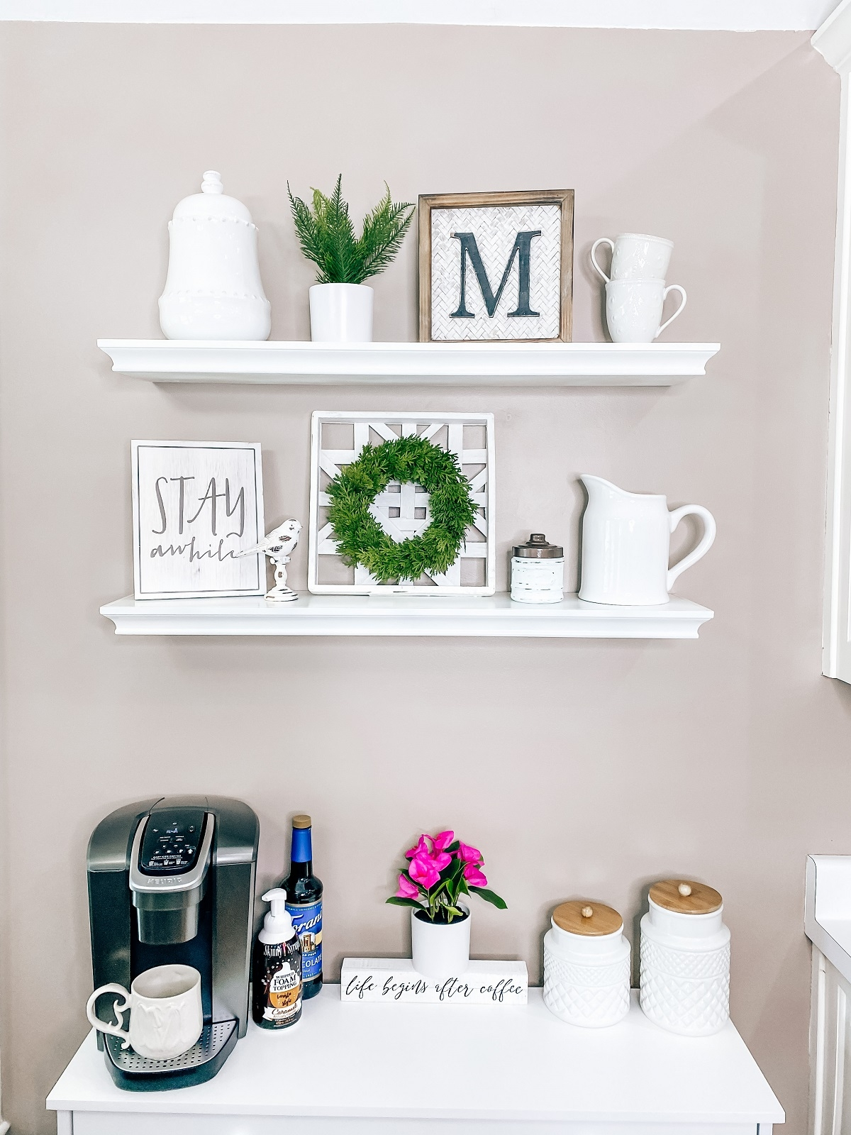 coffee bar wall décor and more