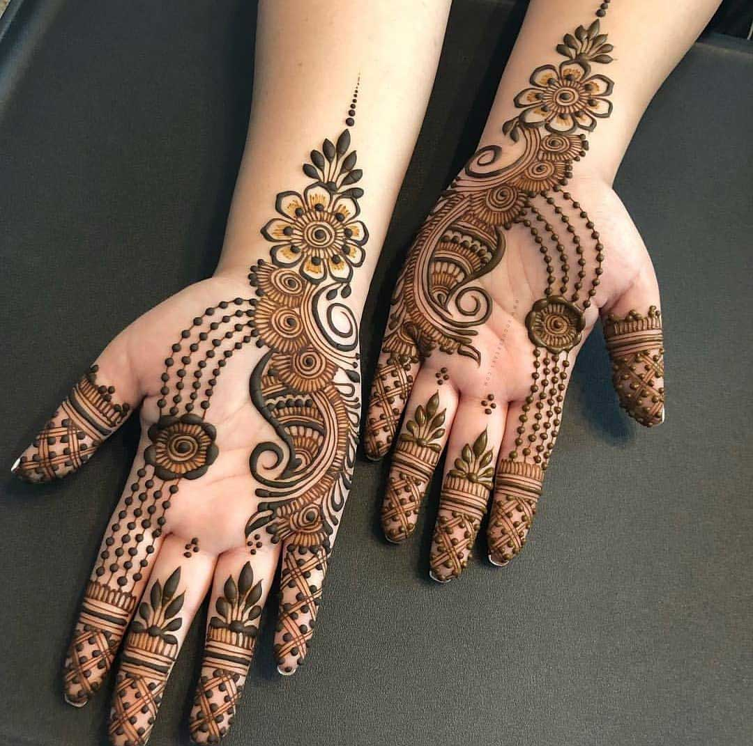 Mehandi Simple Design Photos