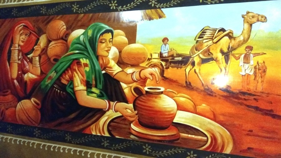 Rajasthani culture painting