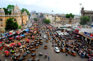 busy streets of India