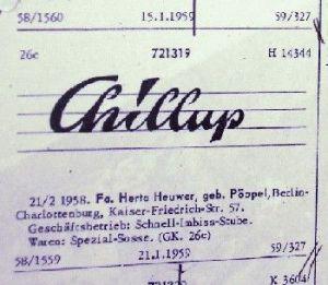 Chillup Patent von Herta Heuwer