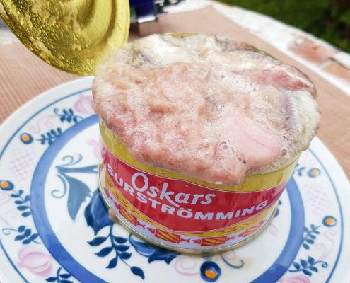 Offene Surströmming Dose