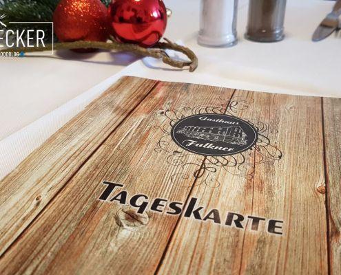 Tageskarte im Gasthaus Falkner