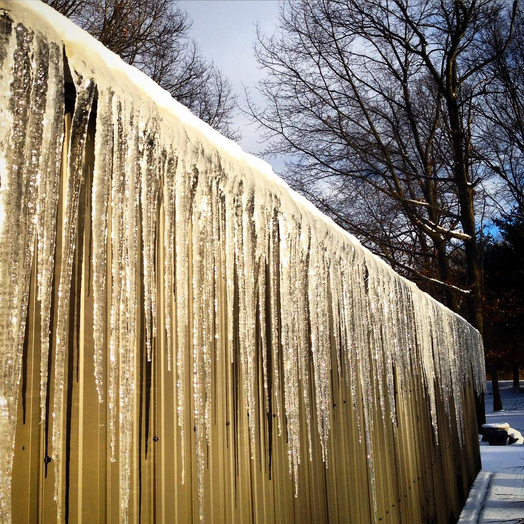 Haven't seen too many icicles this winter. #icicles #voiceministries #voiceministriescamp