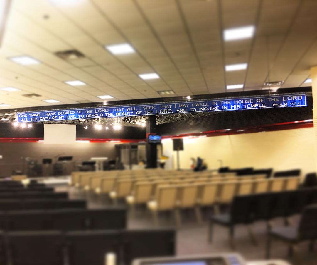 The banner is back up at #ihopmichiana ... Psalm 27:4 is such an important part of who we are! #voiceministries #psalm274 #onething