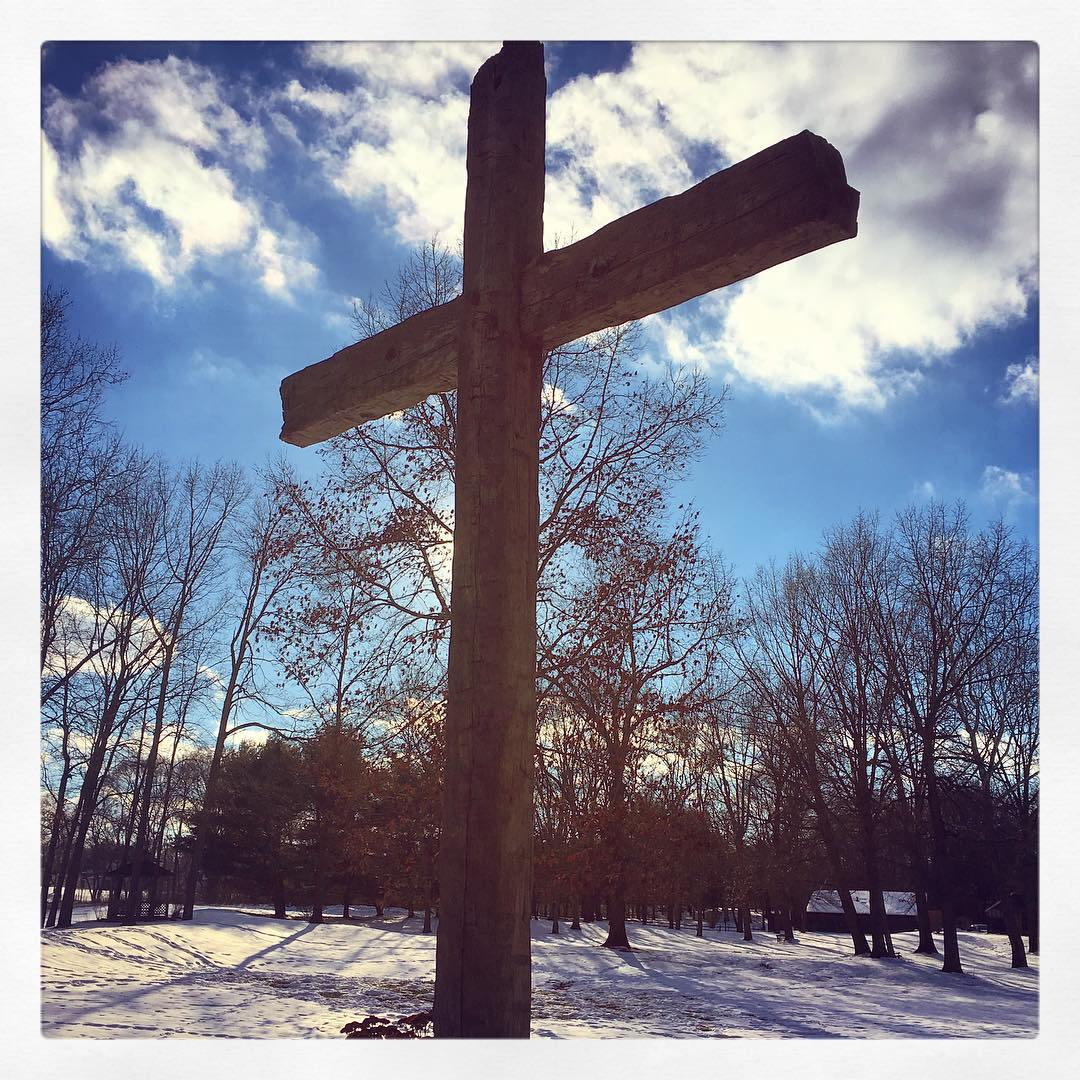 The cross at The Camp when the sun made its appearance today. #voiceministriescamp #voiceministries