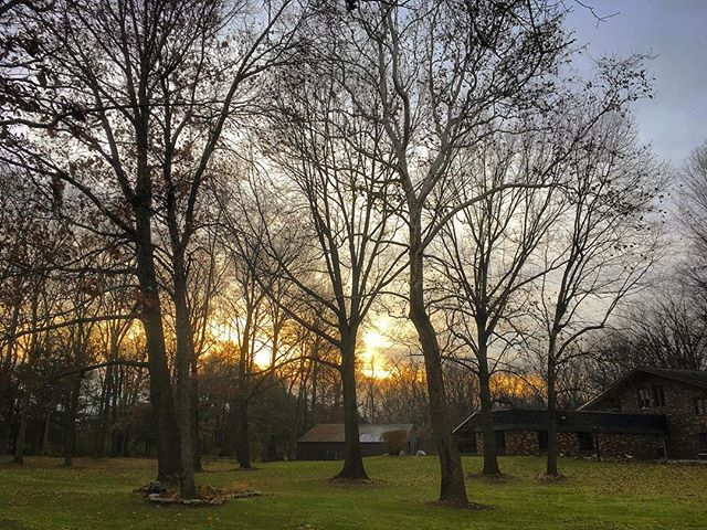 End of a pleasant day of raking and moving leaves 🍁 #voiceministriescamp #voiceministries