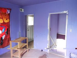 room entirely painted purple