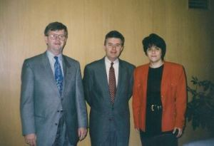 An executive from Goodwill, Fred Grandy, me