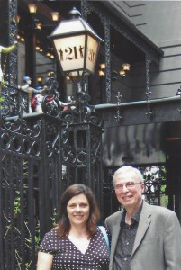 Bill and I outside New York Citys famous 21 Club