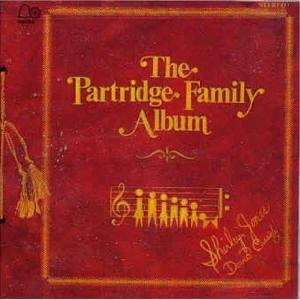 Burgundy album cover with gold writing: The Partridge Family Album