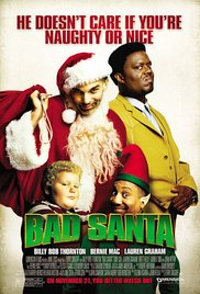 Bad Santa DVD cover features Billy Bob Thornton and the other stars