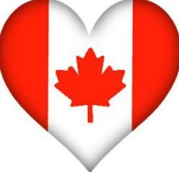 Canadian flag in the shape of a heart