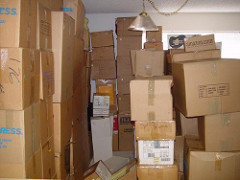 stacks of packed boxes by Ari via Flickr