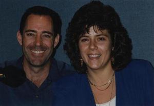 Barry Williams and me, with my big 90s hair