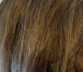 close up of hair that is light brown with some lighter highlights
