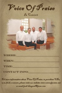 VOP poster 8x12 - In A Church
