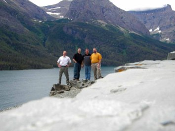 We pose near the edge